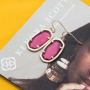 Kendra Scott DANI GOLD earrings Berry Red